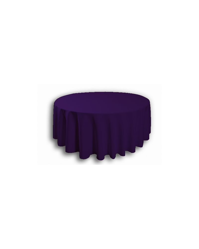 "120"" Inch Purple Round Banqueting Wedding Tablecloth"