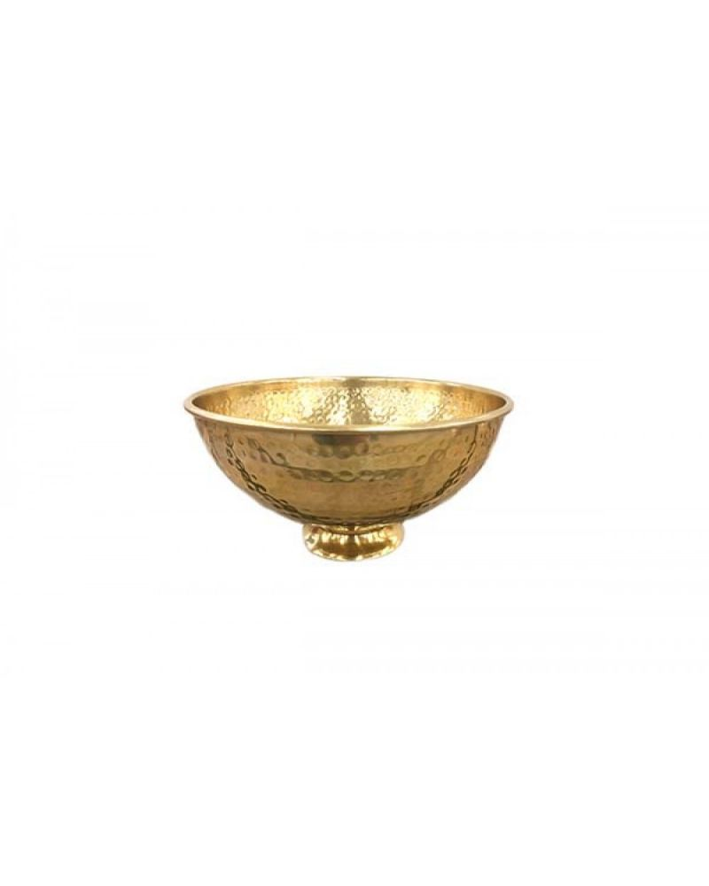 Rose Gold Hammered Table Bowl Centrepiece 25cm
