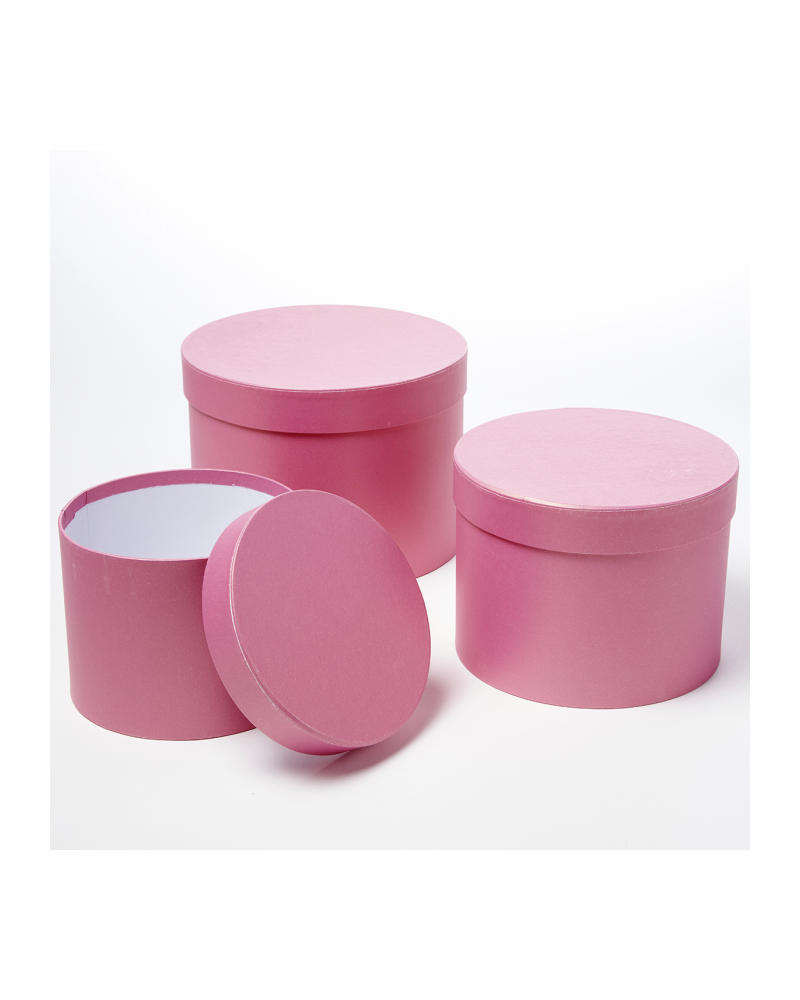 Oasis® Symphony Hat Box (Set of 3) - Strong Pink