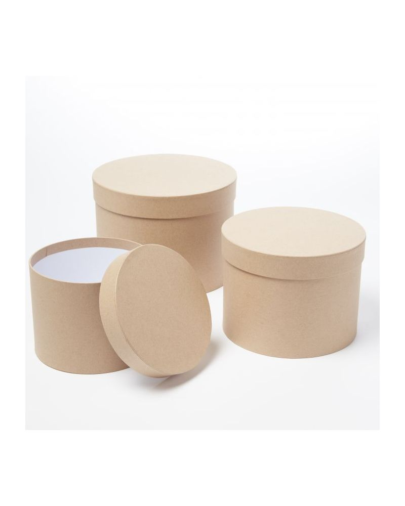Oasis® Symphony Hat Box (Set of 3) - Natural Kraft