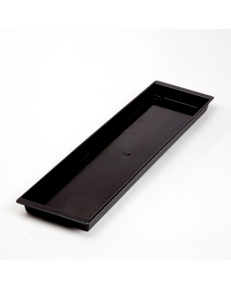 Floral Double Brick Tray - Black (Pack of 10)