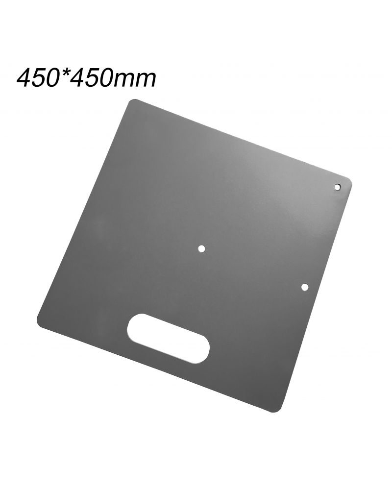 Heavy Duty Base Plate for Pipe and Drape System 450mmx450mm SIlver