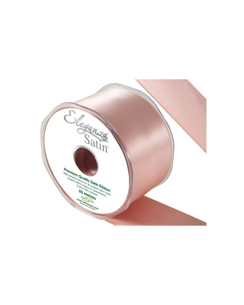 Double Faced Satin Ribbon 50mm x 20m Rose Gold