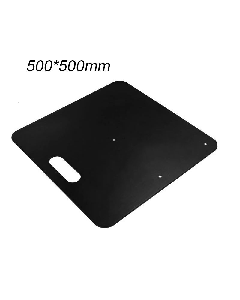 Heavy Duty Base Plate 500mmx500mm for Pipe and Drape System Black