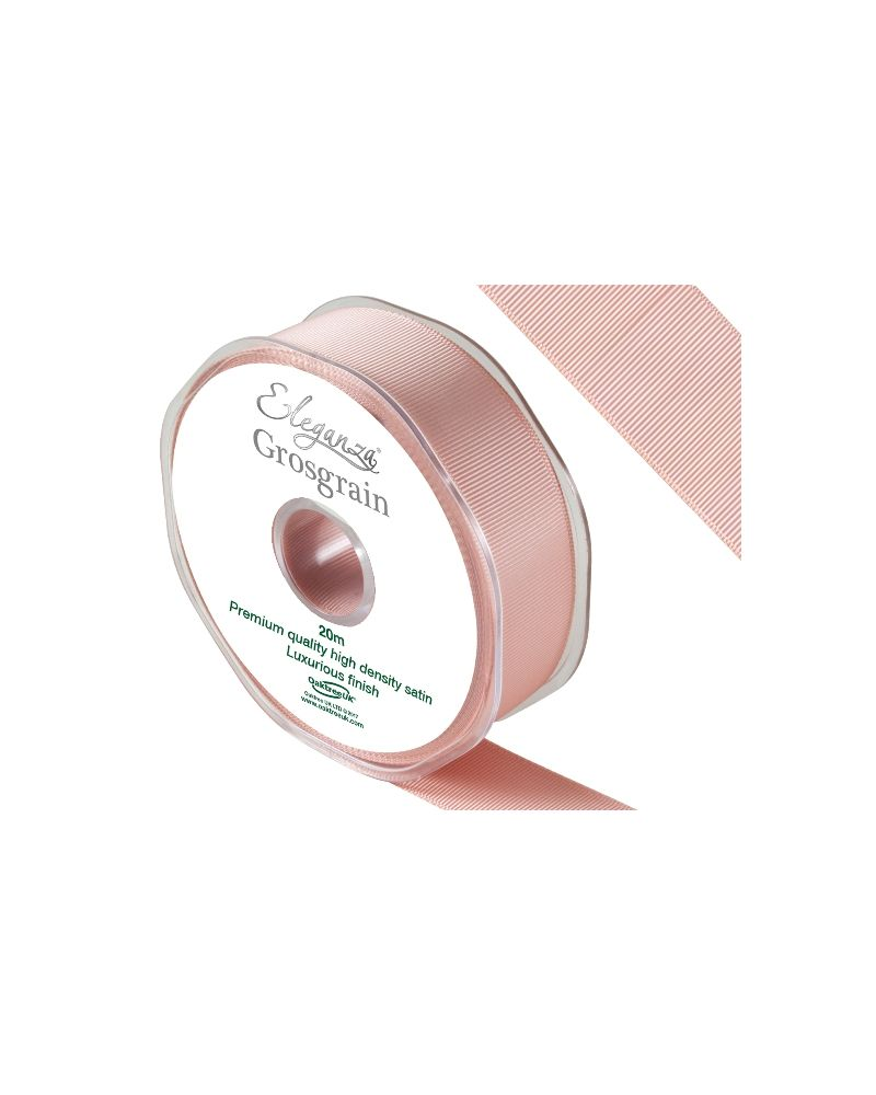 Double Faced Satin Ribbon 25mm x 20m Rose Gold