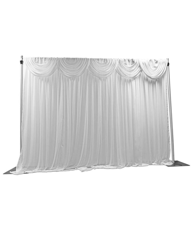 6m x 3m Chiffon Back Drop Drape With swags