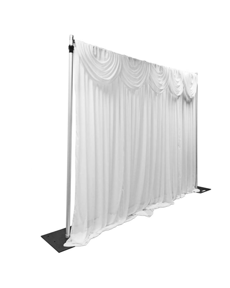 3m x 3m Chiffon Back Drop Drape With swags