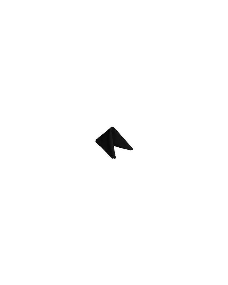 "Black Spun Polyester Napkins 20""x20"""