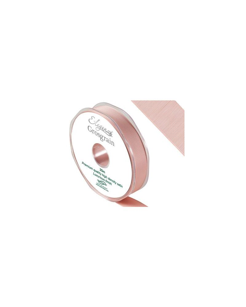 Premium Grosgrain Satin Ribbon 15mm x 20m Rose Gold