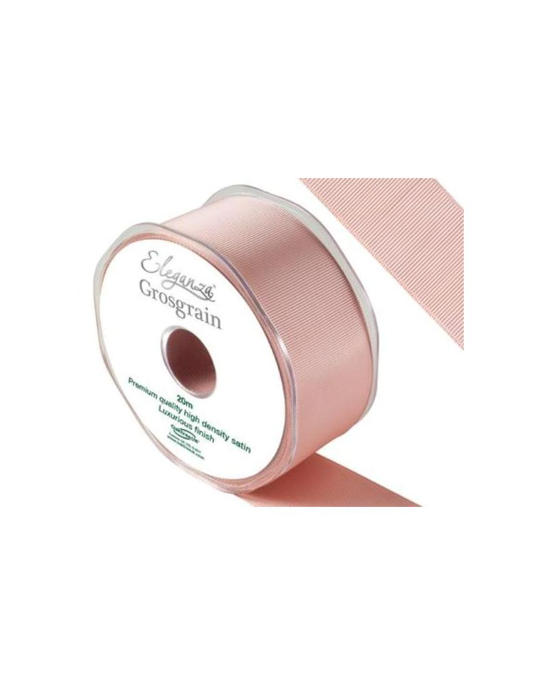 Premium Grosgrain Satin Ribbon 38mm x 20m Rose Gold