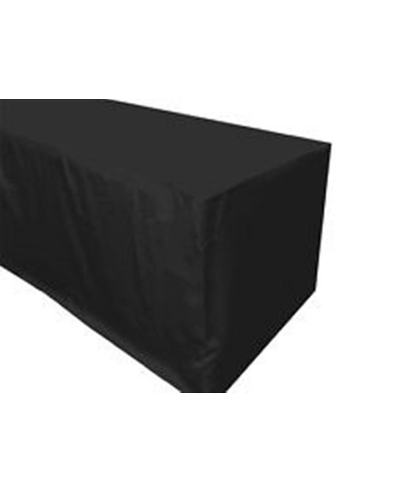 6ft Black Rectangular Fitted Polyester Trestle Table Banqueting Tablecloth