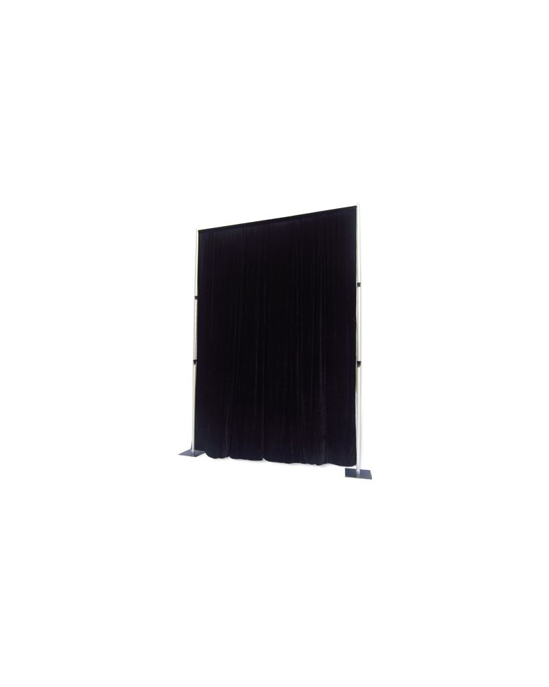 3m x 3m Fire retardant  Polyester Black Drape