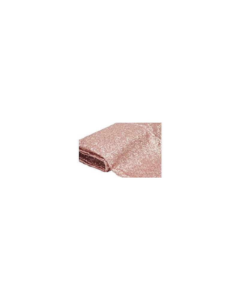 90 Inch Square Blush Pink Sequin Tablecloth / Overlay