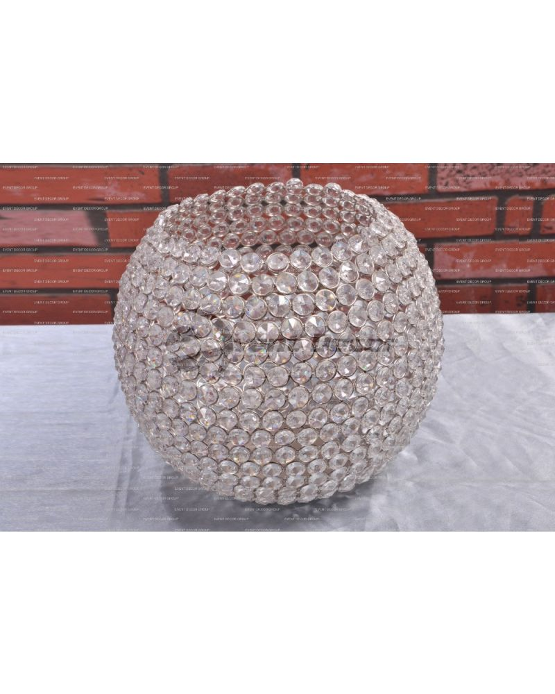 Crystal Globe Table Centerpiece 25cm
