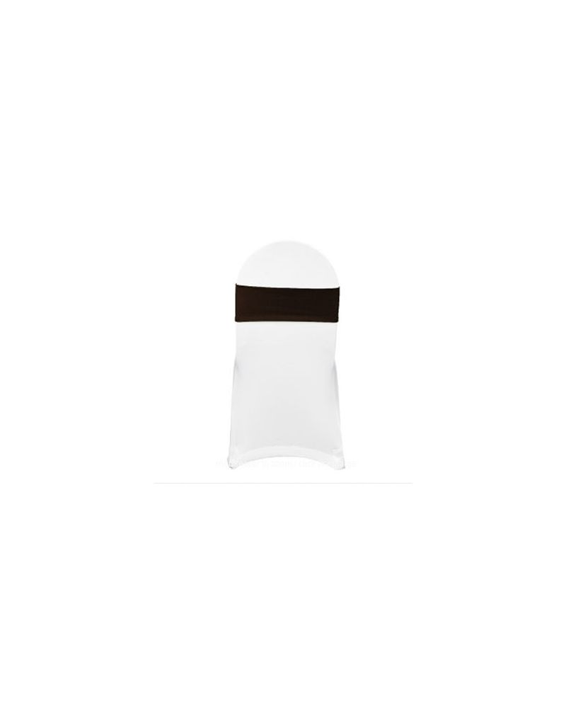 Chocolate Spandex Lycra Bands For Chair Covers