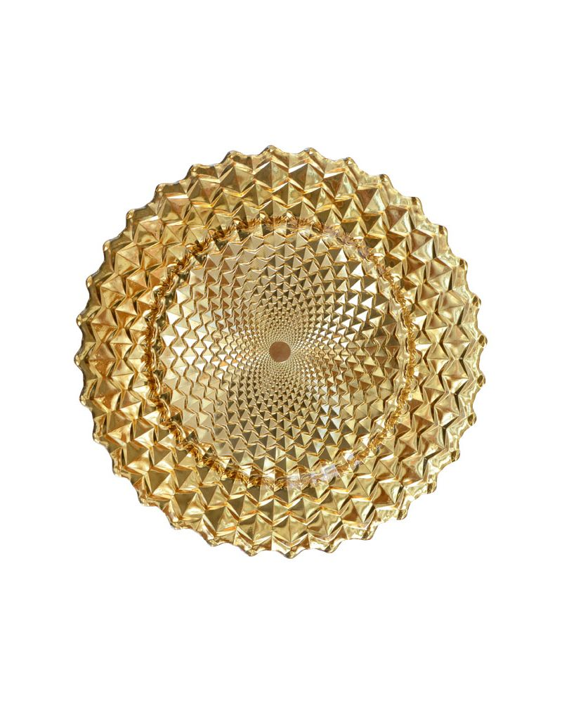 Gold Spiral Pattern Band Glass Charger Plate to buy