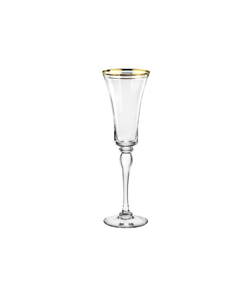 Gold Rimmed Champagne Glass