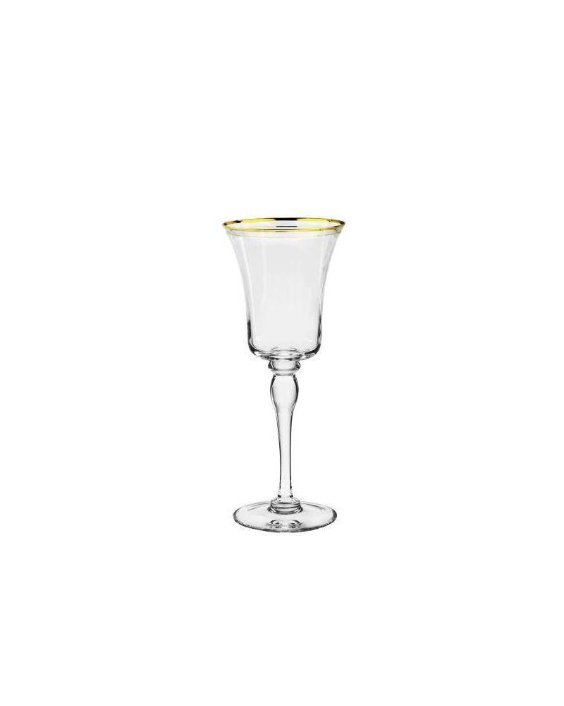 Gold Rimmed White Wine Glass