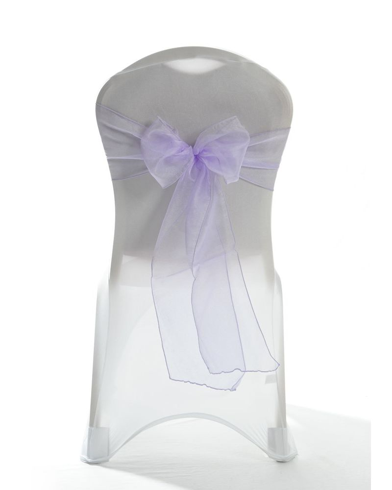 Violet Crystal Organza Chair Cover Sashes