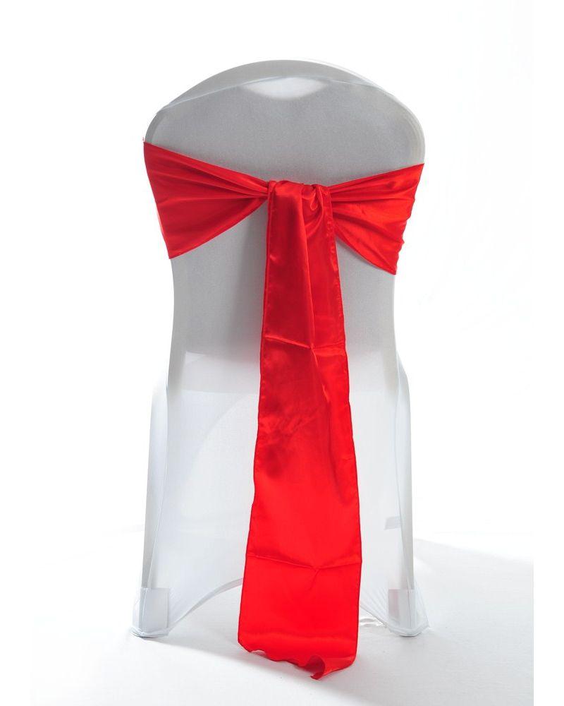 Red Satin Wedding Chair Cover Sash