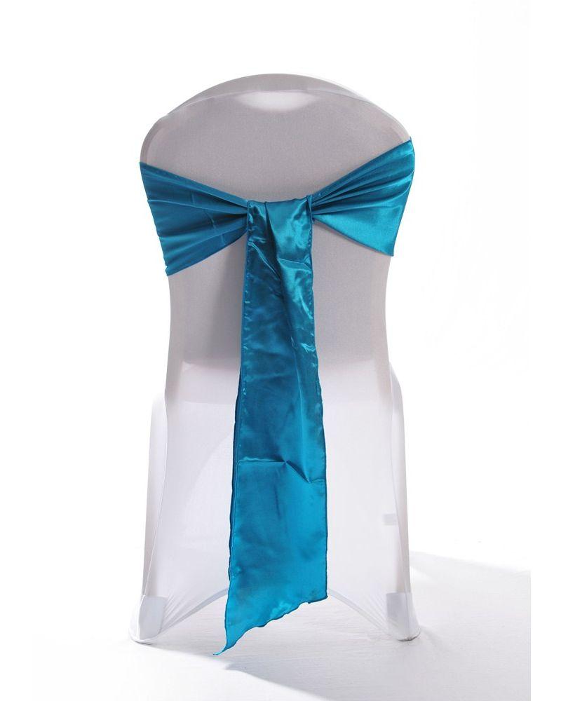 Teal Green Satin Wedding Chair Cover Sash