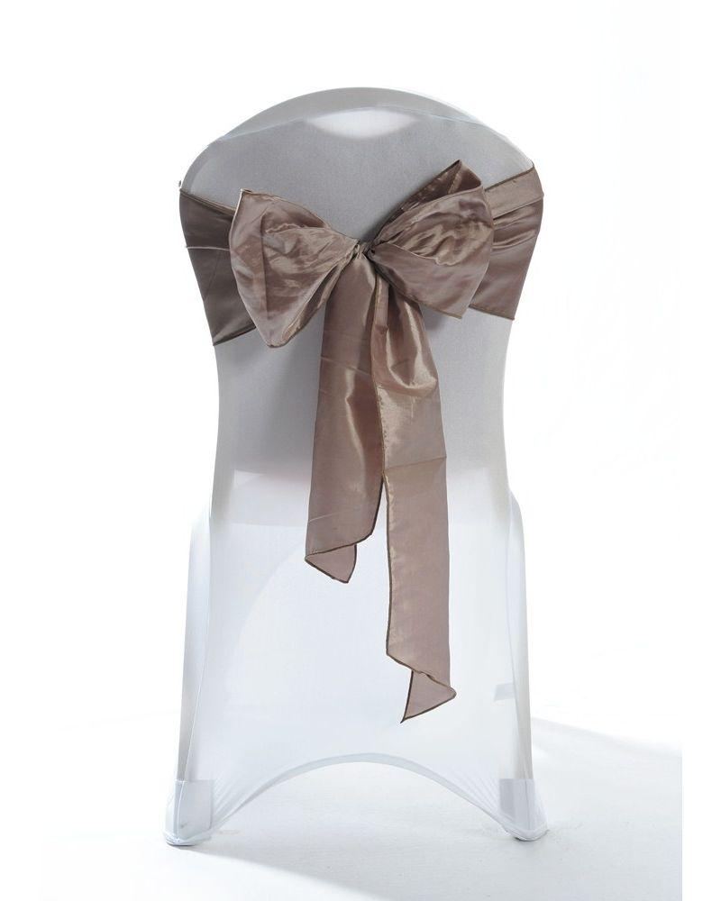 Wheat Taffeta Wedding Chair Cover Sashes