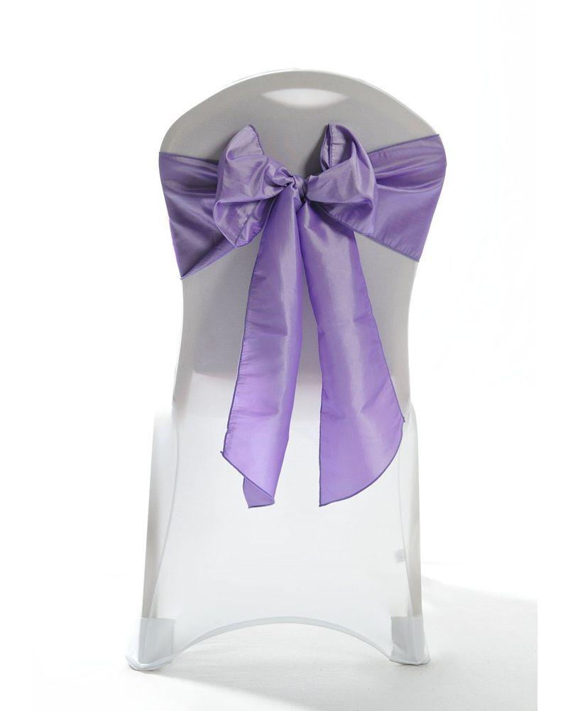 Lilac Taffeta Wedding Chair Cover Sashes