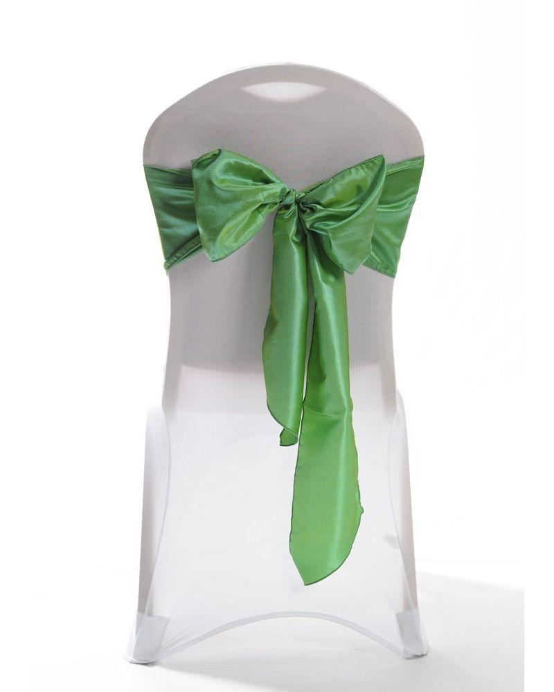 Sage Green Taffeta Wedding Chair Cover Sashes