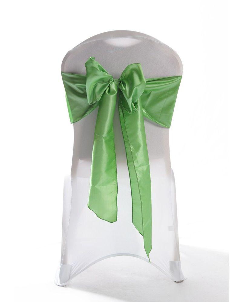 Baja Mint Green Taffeta Wedding Chair Cover Sashes