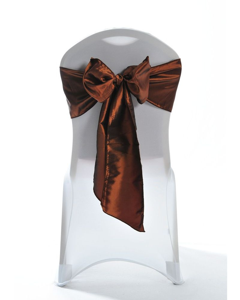 Copper Bronze Taffeta Wedding Chair Cover Sashes