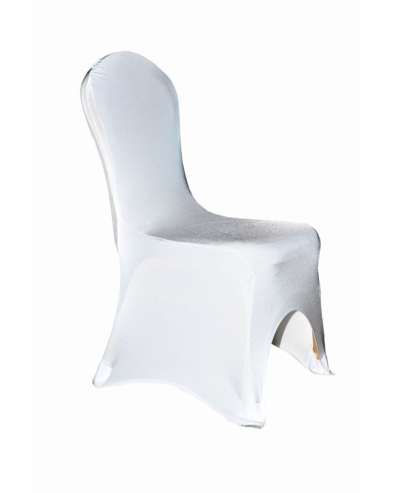 White Spandex Lycra Wedding Banqueting Chair Covers