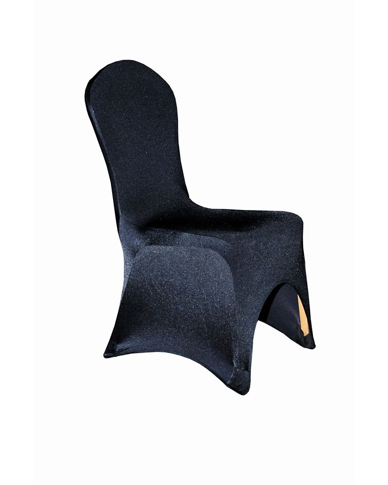 Black Spandex Lycra Wedding Banqueting Chair Covers