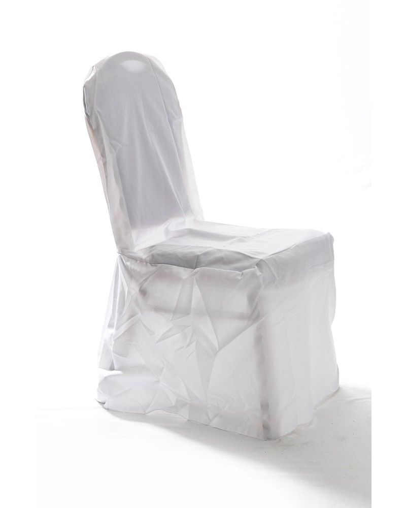 White Medium Round Top Wedding Banqueting Chair Covers
