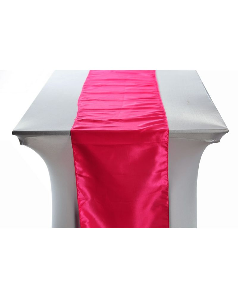"Hot Pink Taffeta Wedding Table Runners 14""x108"""