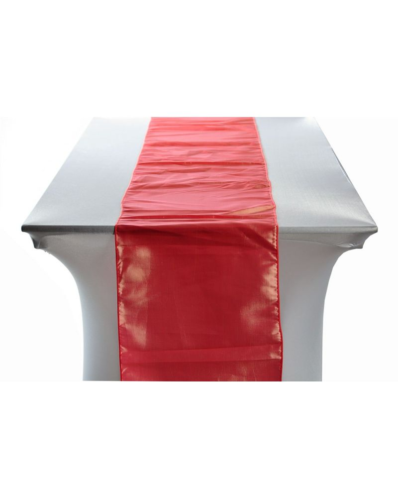 "Coral Taffeta Wedding Table Runners 14""x108"""