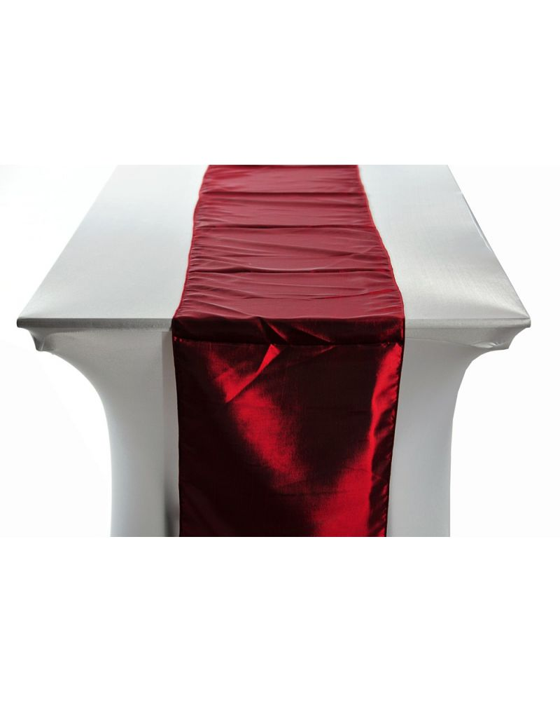 "Garnet Taffeta Wedding Table Runners 14""x108"""