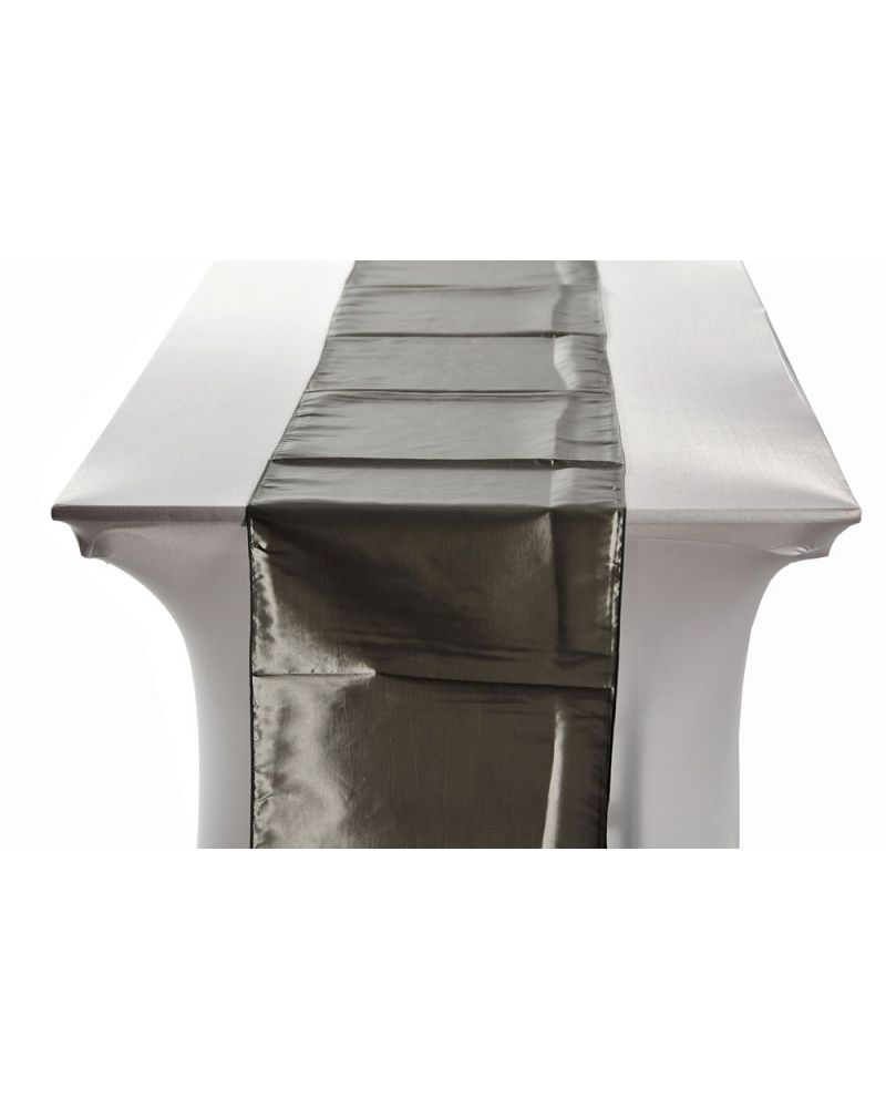 "Platinum Taffeta Wedding Table Runners 14""x108"""