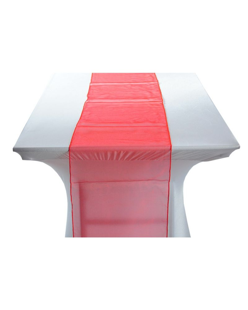 """Red Organza Wedding Table Runners 14""""x108"""""""