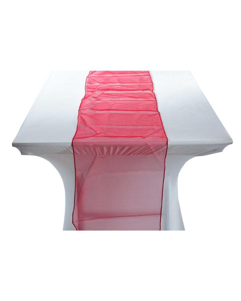 "Garnet (Dark Red) Organza Table Runners 14""x108"""