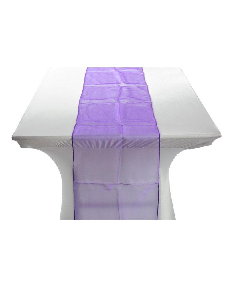"Ultra Purple Organza Table Runners 14""x108"""