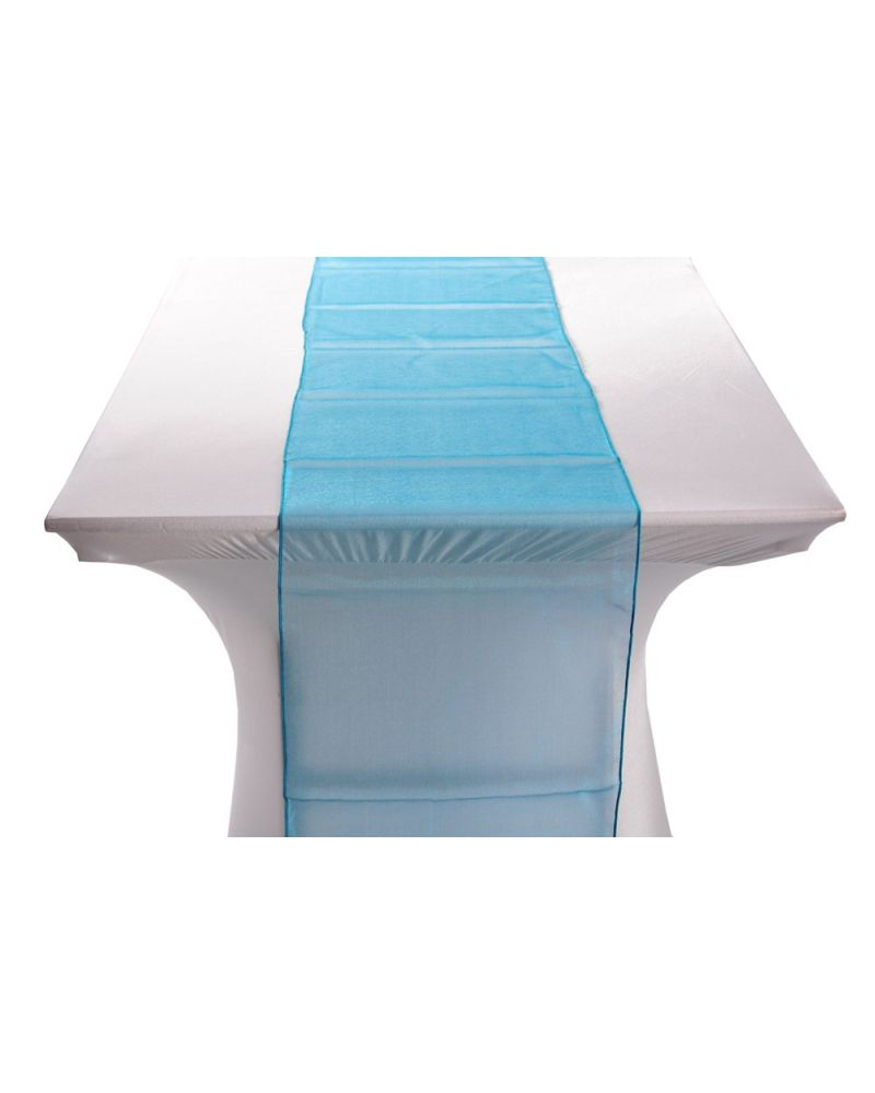 "Teal Green Organza Table Runners 14""x108"""
