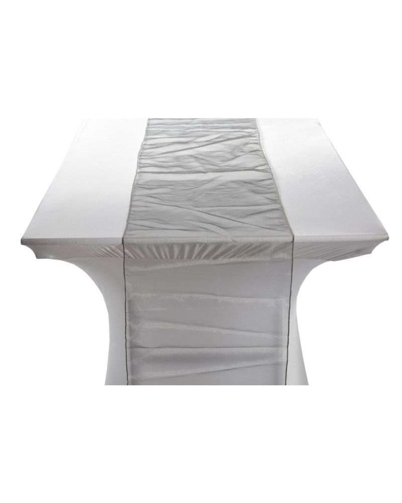 "Platinum Silver Organza Table Runners 14""x108"""