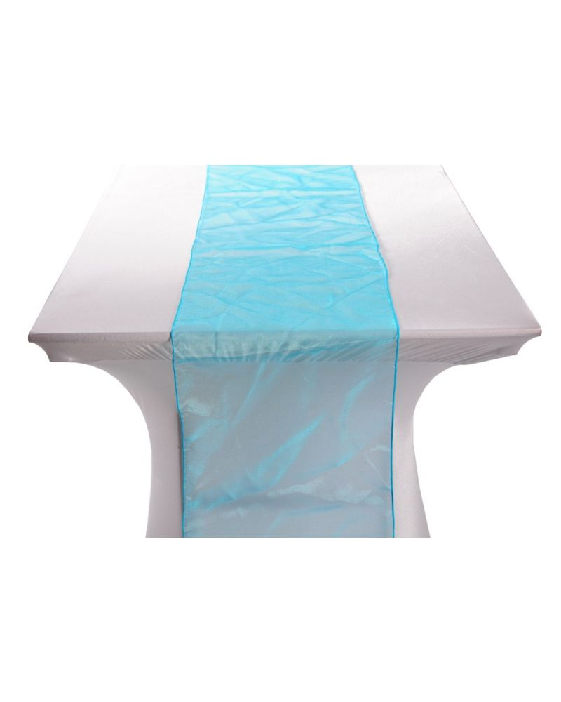 "Turquoise Organza Table Runners 14""x108"""