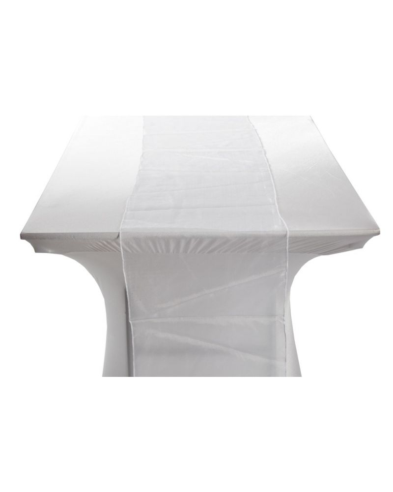 "White Organza Table Runners 14""x108"""