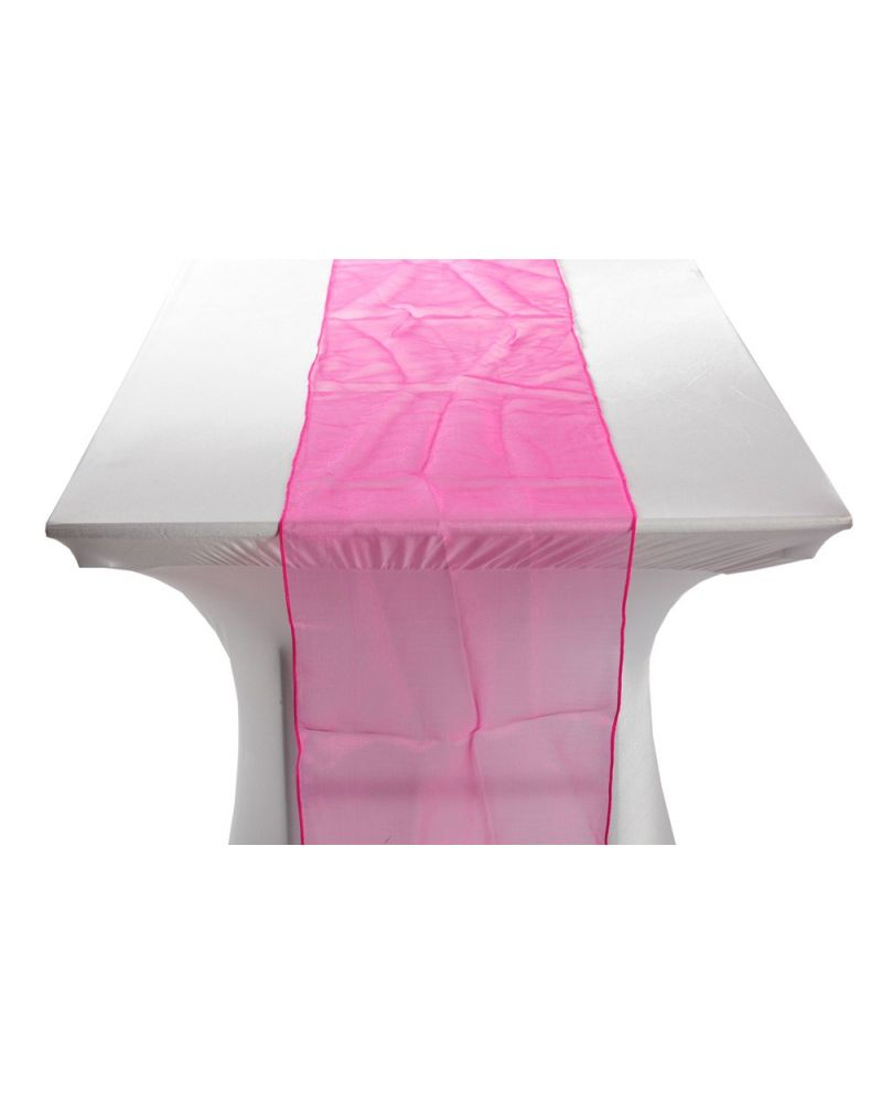 "Hot Pink Organza Table Runners 14""x108"""