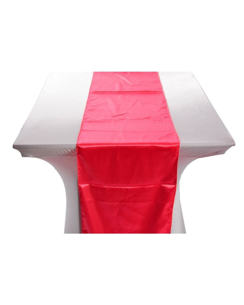 "Coral Satin Wedding Table Runners 14""x108"""