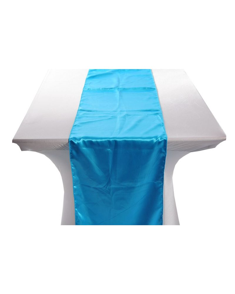"Turquoise Satin Table Runners 14""x108"""