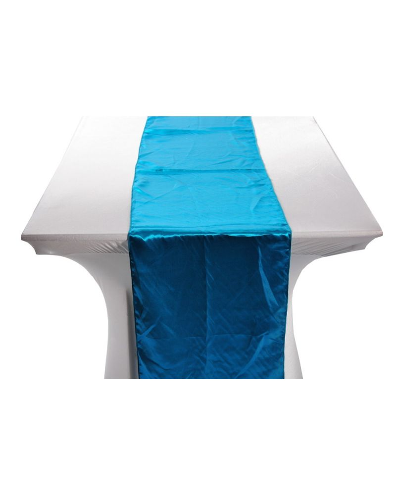 "Teal Satin Wedding Table Runners 14""x108"""