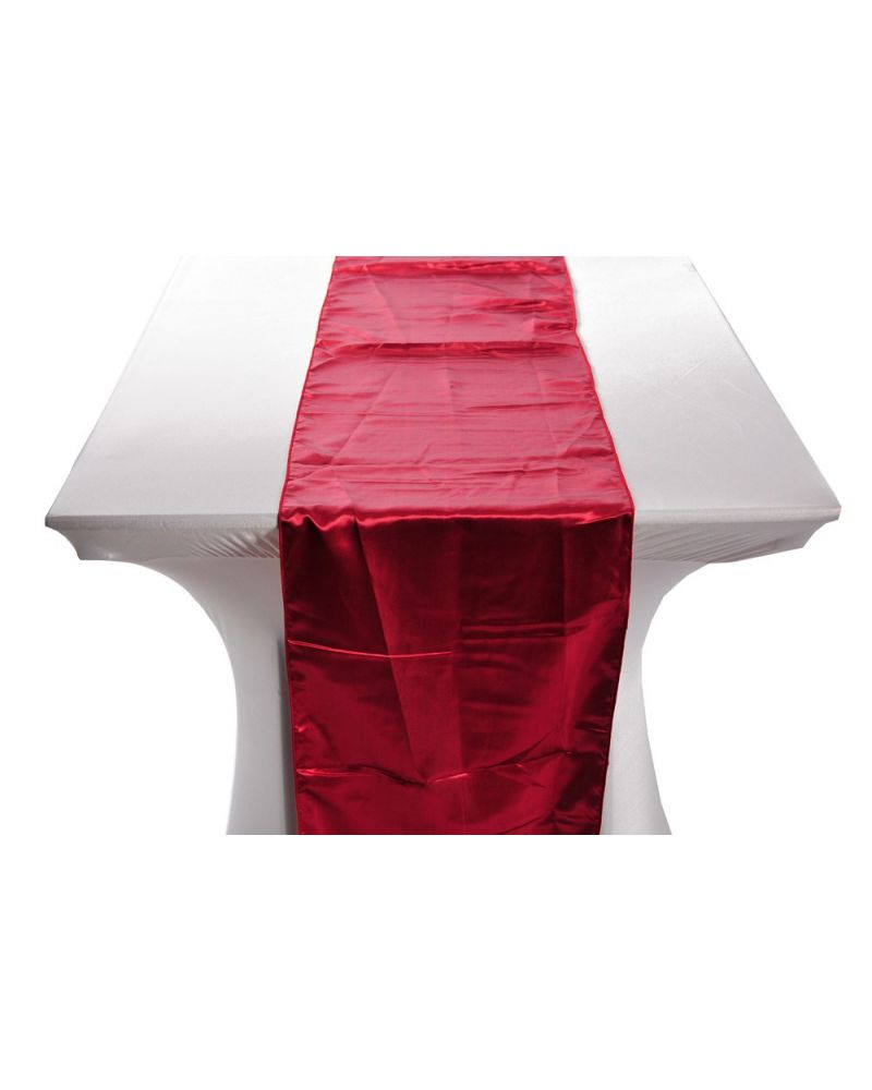 "Garnet Satin Wedding Table Runners 14""x108"""
