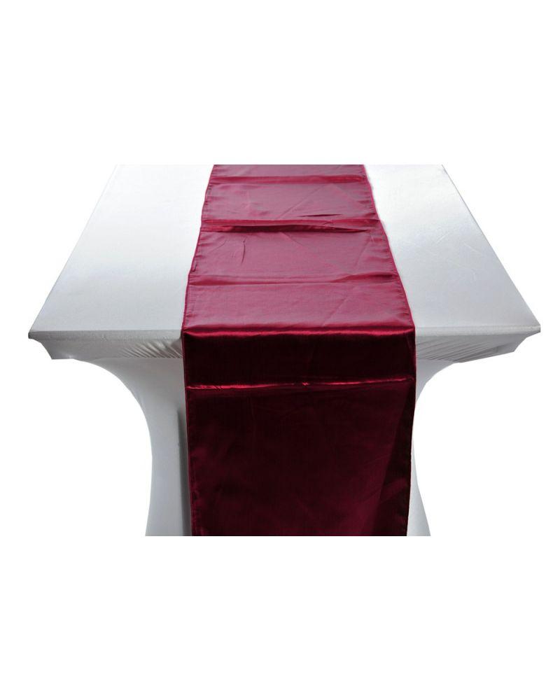 "Burgundy Satin Wedding Table Runners 14""x108"""